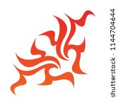 tribal flame decoration. simple ...   Shutterstock .eps vector #1144704644
