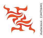 tribal flame decoration. simple ...   Shutterstock .eps vector #1144706441