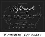 nightingale. handdrawn...   Shutterstock .eps vector #1144706657