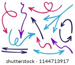 hand drawn diagram arrow icons... | Shutterstock .eps vector #1144713917