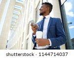 elegant businessman in...   Shutterstock . vector #1144714037
