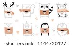 vector collection of line... | Shutterstock .eps vector #1144720127