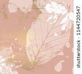 autumn foliage rose gold blush...   Shutterstock .eps vector #1144720547