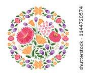 hungarian folk pattern vector.... | Shutterstock .eps vector #1144720574