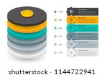 infographic label design with 6 ... | Shutterstock .eps vector #1144722941