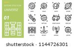universe icon pack outline... | Shutterstock .eps vector #1144726301