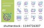 universe icon pack outline... | Shutterstock .eps vector #1144726307