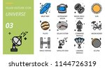 universe icon pack filled... | Shutterstock .eps vector #1144726319