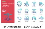 diving icon pack gradient style.... | Shutterstock .eps vector #1144726325