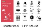 diving icon pack solid style.... | Shutterstock .eps vector #1144726355
