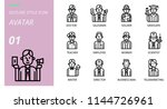 outline icon pack . icons for... | Shutterstock .eps vector #1144726961