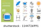 universe icon pack flat style.... | Shutterstock .eps vector #1144726991