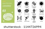 universe icon pack solid style. ... | Shutterstock .eps vector #1144726994