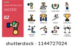 success icon pack filled... | Shutterstock .eps vector #1144727024