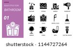 bathroom icon pack solid style. ... | Shutterstock .eps vector #1144727264