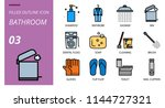 bathroom icon pack filled... | Shutterstock .eps vector #1144727321