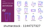bathroom icon pack gradient... | Shutterstock .eps vector #1144727327
