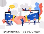 illustrations concept small... | Shutterstock .eps vector #1144727504