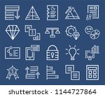set of 20 icons such as... | Shutterstock .eps vector #1144727864