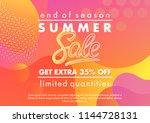summer sale banner.unique... | Shutterstock .eps vector #1144728131
