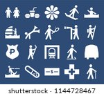 set of 20 icons such as blind...