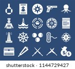 set of 20 icons such as money... | Shutterstock .eps vector #1144729427