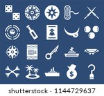 set of 20 icons such as hook ...