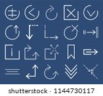 set of 20 icons such as... | Shutterstock .eps vector #1144730117