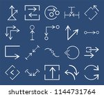 set of 20 icons such as curved...
