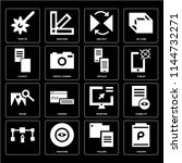 set of 16 icons such as poster  ...