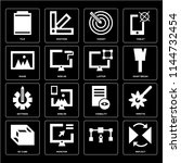 set of 16 icons such as reflect ...