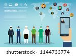 people of different occupations.... | Shutterstock .eps vector #1144733774