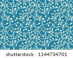 hand drawn ivy and vines in... | Shutterstock .eps vector #1144734701