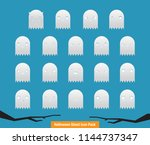 spooky  funny colourful... | Shutterstock .eps vector #1144737347