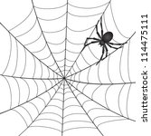 a spiderweb with spider on... | Shutterstock .eps vector #114475111