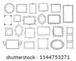 hand drawn frames. vintage... | Shutterstock .eps vector #1144753271