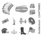 Usa Country Monochrome Icons In ...