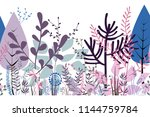 autumn seamless border | Shutterstock .eps vector #1144759784