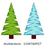 evergreen tree seasonal change... | Shutterstock .eps vector #1144760927