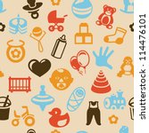vector seamless pattern with... | Shutterstock .eps vector #114476101