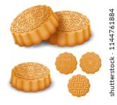 set of the mooncakes for the... | Shutterstock .eps vector #1144761884