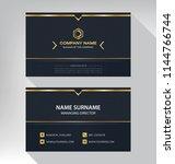 business model name card luxury ... | Shutterstock .eps vector #1144766744