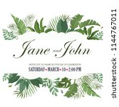 vector floral design card.... | Shutterstock .eps vector #1144767011