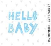 children poster with handdrawn...   Shutterstock .eps vector #1144768997