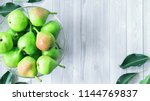 pears on the table top view....   Shutterstock . vector #1144769837