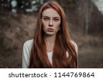 Beautiful Red Haired Girl Close ...