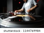 professional dj turntable... | Shutterstock . vector #1144769984