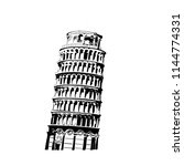 vector illustration of tower of ... | Shutterstock .eps vector #1144774331