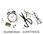 business stationery with alarm... | Shutterstock . vector #1144776521