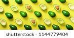 Avocado Pattern On Yellow...